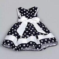 2016 verano Chic Bebé niños niñas flor niño bebé Polka Dot princesa fiesta boda Formal arco blanco desfile tutú vestido 4-9Y