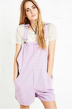 Vintage Renewal Lilac Dungaree Shorts