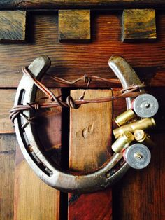 Decorated Horseshoe Bullets and Shotgun. by HorseshoesSavNHorses, $45.00
