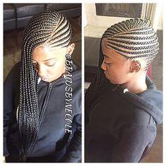 Awe Inspiring Childrens Cornrows Natural Hair Style Braids Pinterest Hairstyles For Men Maxibearus