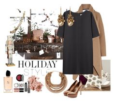 Holiday Style - Oversize Dresses by caroleballstudio on Polyvore featuring polyvore, fashion, style, Non, Harris Wharf London, Sergio Rossi, Roberto Cavalli, Ruth Tomlinson, Bobbi Brown Cosmetics, Giorgio Armani, Roost, holidaystyle and oversizeddress