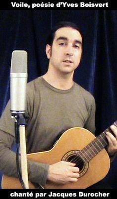 Jacques Durocher chante un poème d'Yves Boisvert, guitare classique et voix.