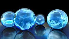 Beautiful Blue Crystal Balls