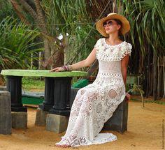 Платья ручной работы. Авторское кружевное платье