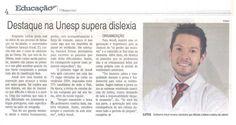 Matéria com o aluno Guilherme Sarauza Arsufi da Faculdade de Odontologia de Araçatuba, no suplemento de Educação da Folha da Região