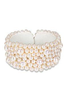 White Potato 5.5-8mm Pearl Stretch Bracelet on HauteLook