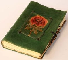 Green Rose Leather Journal. $55.00, via Etsy.