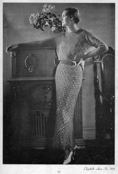 Vintage 1930s Crochet Dress Pattern, Columbia Elizabeth Ann Dress No. 395 - 1934 - PDF eBook