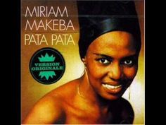 Miriam Makeba - Pata Pata in English means touch touch/she recorded this song with her girl group the Skylarks Sound Of Music, Kinds Of Music, New Music, Nina Simone, Miriam Makeba, Mama Africa, South Africa, Baroque Composers, Jazz