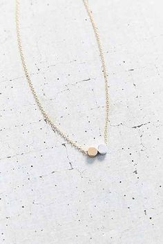 Double Dot Short Necklace - Urban Outfitters