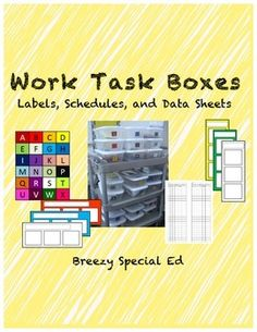 Included are the materials I used to set up my work task station in my classroom. | by Breezy Special Ed