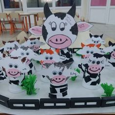 paper cup cow bulletin board