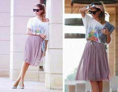 Lavender pleated skirt #thriftshopfind