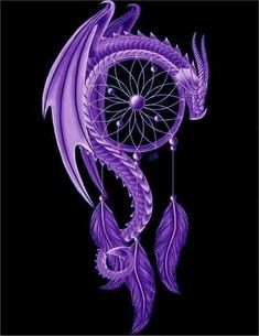 Purple & Black Dreamcatcher