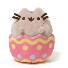 It's Pusheen and he's already found the Easter eggs, silly cat. This small Easter Pusheen plush is here to help you celebrate Easter and fill it with more cuteness and fun. Get your own personal Easter Pusheen Plushie! Kawaii Plush, Cute Plush, Egg Toys, Grey Tabby Cats, Pusheen Cat, Pusheen Gifts, Pusheen Toys, Pusheen Stuff, Cute Stuffed Animals