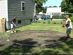 Do-It-Yourself Round Above Ground Swimming Pool Installation - 1 of 2 - YouTube