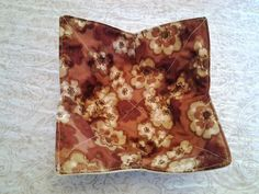 Microwave Bowl Cozy Holder Fall Autumn Brown Cream Multi Flower Floral Pot Holder Hot Pad Kitchen Linens Textiles by CaliSistersCreate on Etsy