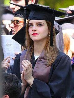 Emma Watson graduates from Brown University, manages to still look beautiful in a cap & gown