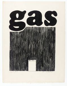 Edward Ruscha 'Gas', 1962 ink and crayon on paper
