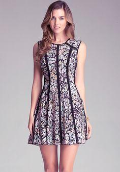 Print Crepe Dress - Dresses - All Dresses | bebe