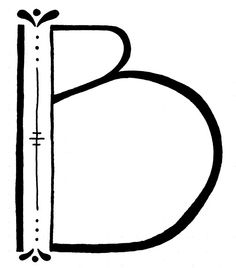 """""""B"""" drop cap"""