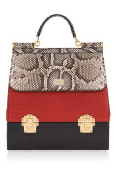 Python Lizard Skin Shoulder Bag by DOLCE   GABBANA for Preorder on Moda  Operandi Dolce And 4a8918bdb6922