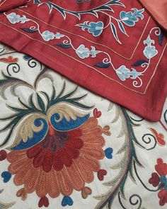 #сюзане #бухара #buxoro#suzani #silk #embroidery #wallhanging #bed #cover #antique #vintage #textiles #interiors #interiordesign #architecture‬#art #favorite #decorations #decor #decorated #interior #interiordesign #interiordesigner #interiors #interiorhome #homedesign#adras#wedding Kashida Embroidery, Jacobean Embroidery, Tambour Embroidery, Embroidery Motifs, Indian Embroidery, Embroidery Designs, Textile Patterns, Textile Art, Suzani Fabric