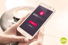 DogWalk - App Design by Freshpixels.pl Buy now: https://creativemarket.com/freshpixelspl/54374-DogWalk-App-Design