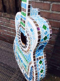 Gitaar - mozaïek - guitar glass mosaic