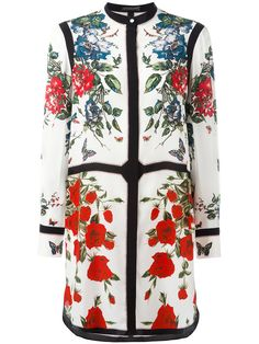 Shop Alexander McQueen panelled floral print dress.