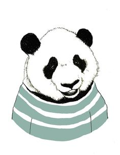 Panda Bear Art Nursery Art Panda Bears Love by corelladesign