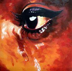 "Saatchi Online Artist thomas saliot; Painting, ""Soul tears"" #art"