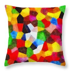 Carnival Abstract Throw Pillow by Grigorios Moraitis