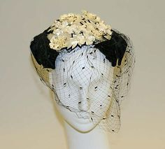 Floral Hat by Janette Colombier (French), 1952–56 Culture: French. Gift of Jerome R. Zipkin, 1995