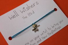 ♥ The message on the card is inspired by the charm and what it symbolises. For example : The Bird - Keep me on your wrist you bring you Freedom and New Beginnings. Your Freedom, Travel Gifts, New Beginnings, Bridesmaid Gifts, Friendship Bracelets, Insects, My Etsy Shop, Charmed, Wellness