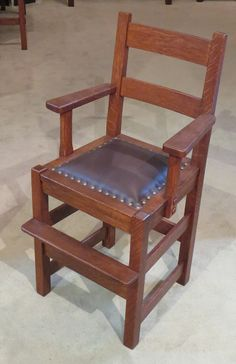 Stickley Brothers High Chair.  35″h x 19″w x 17″d