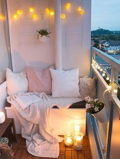 Diy, room decor and some other ideas tiny balcony, small balcony decor, small Apartment Balconies, Cozy Apartment, First Apartment, Apartment Living, Apartment Ideas, Bedroom Apartment, Living Rooms, Cheap Apartment, Apartment Furniture
