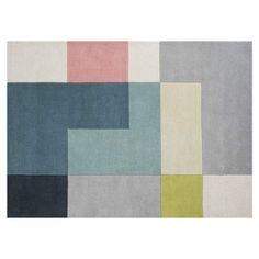 Tetris+Gulvteppe+200x300cm,+Lime,+Linie+Design