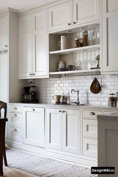 Kitchen Remodel On A Budget 4 Creative And Inexpensive Unique Ideas: Kitchen Remodel Brown Granite kitchen remodel colors window.Galley Kitchen Remodel With Bar old kitchen remodel before after.Kitchen Remodel On A Budget Design. White Kitchen Decor, White Kitchen Cabinets, Kitchen Cabinet Design, Interior Design Kitchen, Home Design, Granite Kitchen, Kitchen Island, Pantry Cabinets, Narrow Kitchen