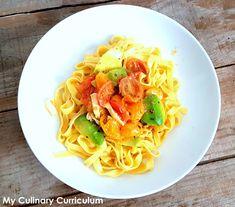 My Culinary Curriculum: Tagliatelles tomates, avocats et fromage de chèvre...