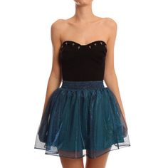 Notes: black tulle but tone down poufiness  Hearts & Bows Aqua Ariel Skater Skirt