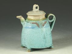 Small teapot 18 - One-of-a-kind small teapot collection - #teapot, #pottery by hodaka pottery