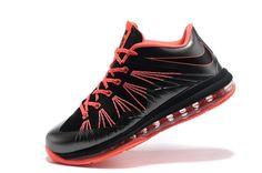 01c7203e884  119.99 Nike LeBron 10 Low Black Total Crimson for Sale