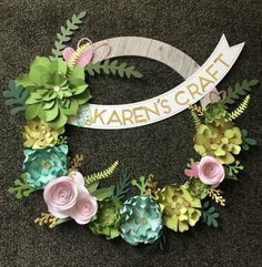 I loved putting together this beautiful wreath from Close To My Heart #nationalpapercraftingmonth #welcomehomewreath Lasting Memories, Close To My Heart, Closer, Floral Wreath, Floral Crown, Garlands, Flower Crown, Garland