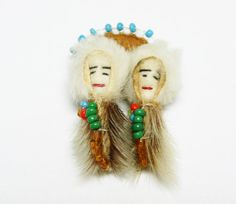 New Listings Daily - Follow Us for UpDates -  Style:  American #Indian Boy & Girl Brooch- #Vintage Beaded Figural Pin - Leather and Seed Beads - #Handmade Too cute!! offered by TheJewelSeeker on Etsy.  It's a sweet handma... #vintage #jewelry #teamlove #etsyretwt #ecochic #thejewelseeker #brown #black #white #indian #handmade