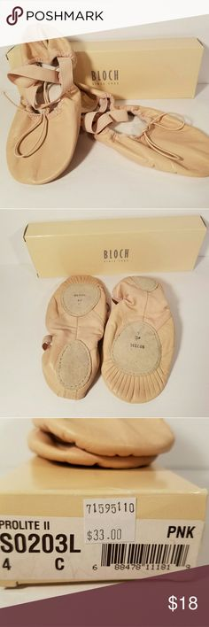 EUC Bloch ballet shoes size 7 pink Tried on never used size 4 = women's 7 Bloch Shoes