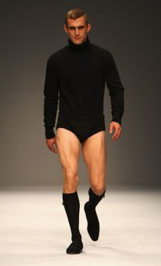 new for 2012: leotard turtle necks. hahaha. is this to prevent plumbers crack?????