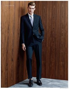 Nikola Jovanovic Dons Fine Suiting for El Palacio de Hierro Holiday 2014