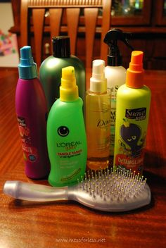 Get Rid of Hair Tangles Plus a Recipe for Hair Detangler | Mess For Less