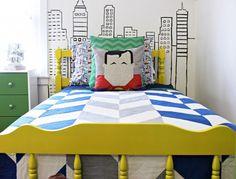 Inspiração: quarto de super herói para os pequenos